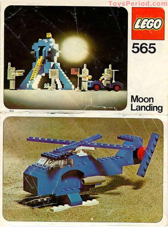 Lego 565 1 Moon Landing Set Parts Inventory And Instructions Lego