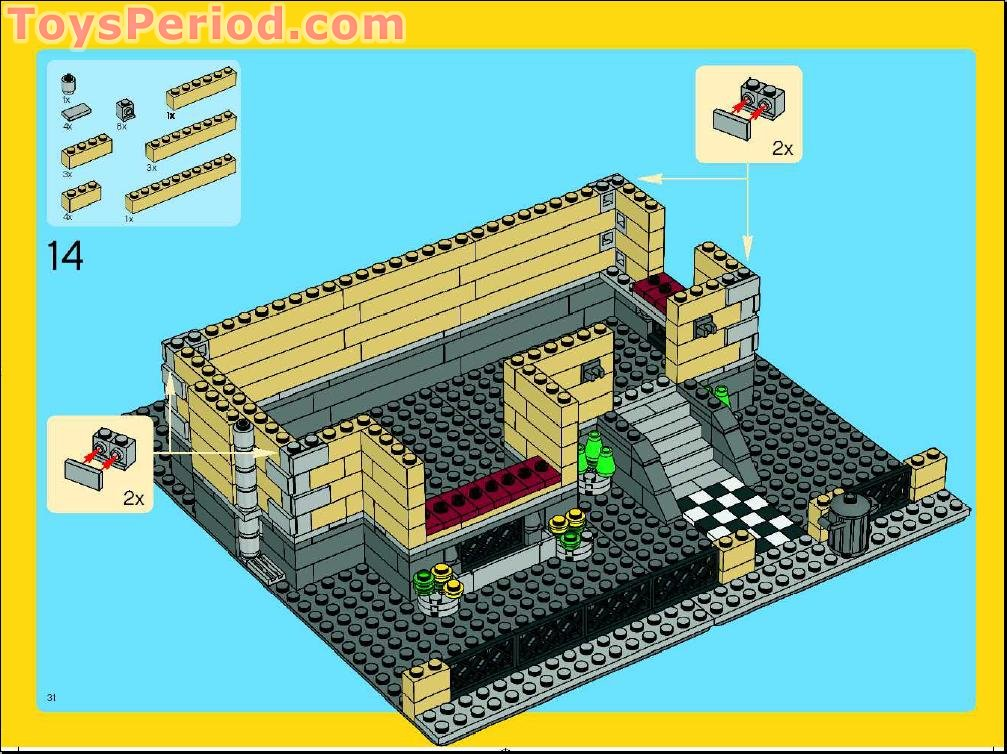 lego 4954 model town house set parts inventory and. Black Bedroom Furniture Sets. Home Design Ideas