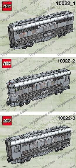 lego 10022 santa fe car set ii builds one dining observation or sleeping