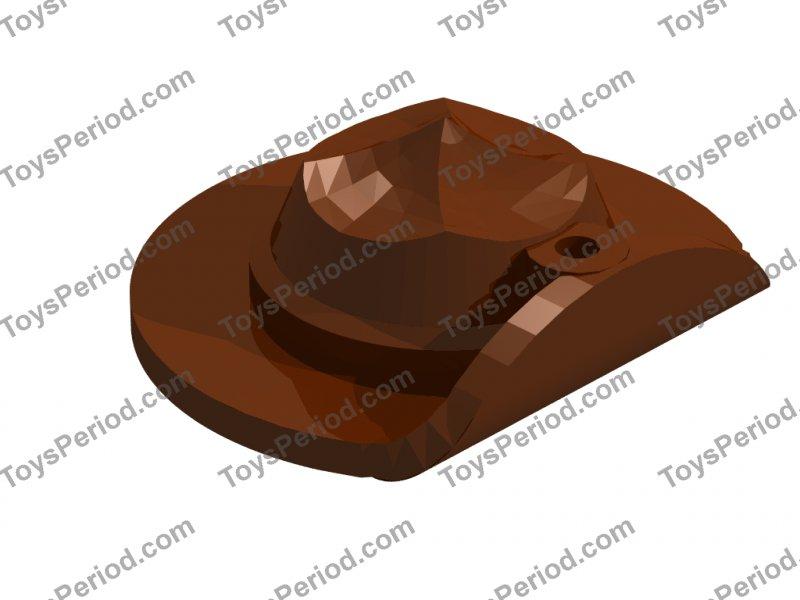 LEGO NEW REDDISH BROWN FLAT WIDE BRIM FEDORA MINIFIGURE HAT HEADGEAR PIECE