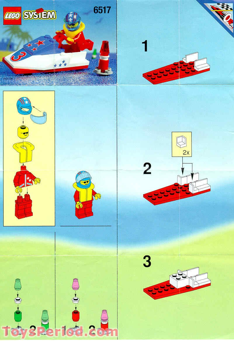 Lego 6517 Water Jet Set Parts Inventory And Instructions