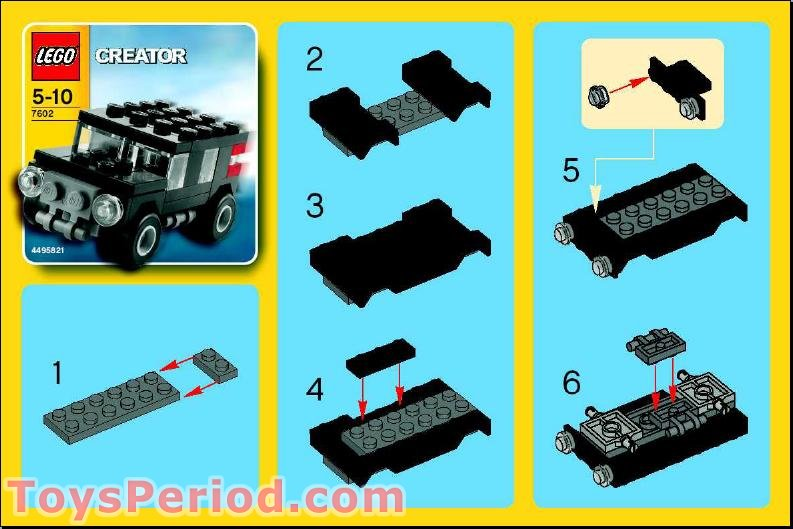 Lego 7602 Jeep Set Parts Inventory And Instructions Lego Reference