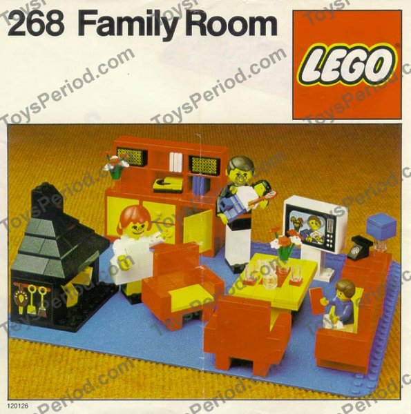 family room sets on Lego 268 1 Family Room Set Parts Inventory And Instructions   Lego
