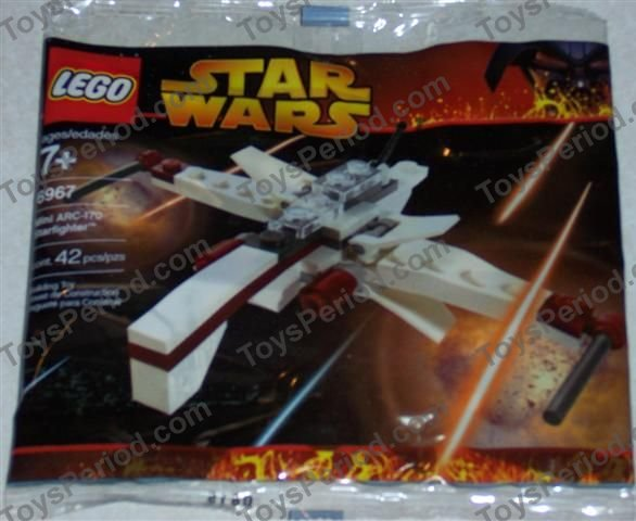 Lego 6967 1 Arc 170 Starfighter Mini Set Parts Inventory And