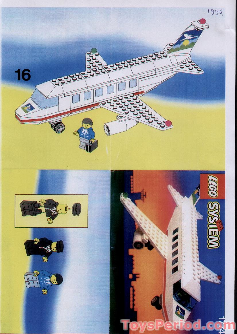 Lego 1774 Airline Promotional Set Jet Aircraft Set Parts