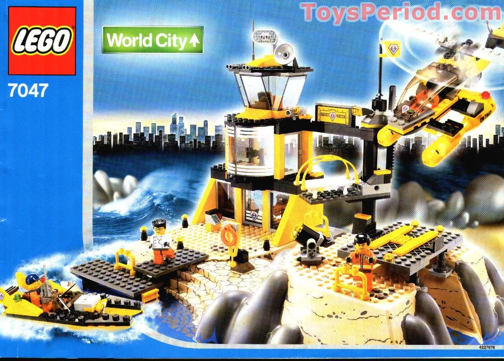 Lego 7047 Coast Watch Hq Set Parts Inventory And