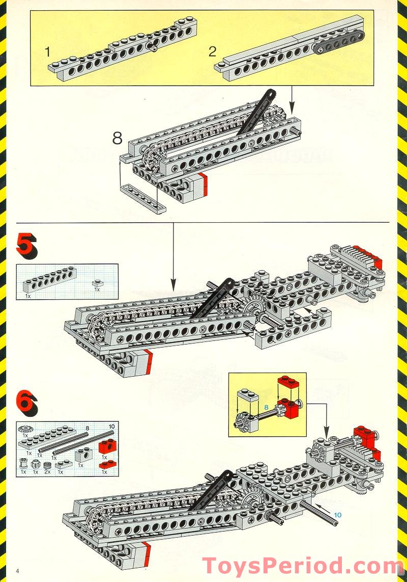 Missing Lego Brick 3709b OldGray x 8 Technic Plate 2 x 4 with Holes