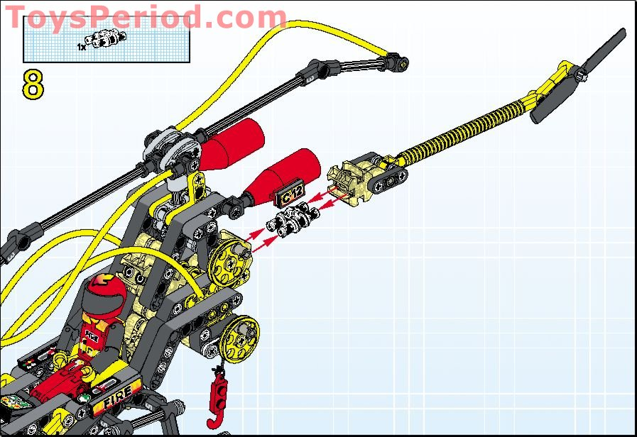 Lego 8253 Fire Helicopter Set Parts Inventory And