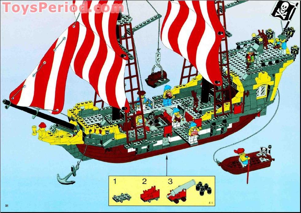 Lego 10040 Black Seas Barracuda Set Parts Inventory And Instructions