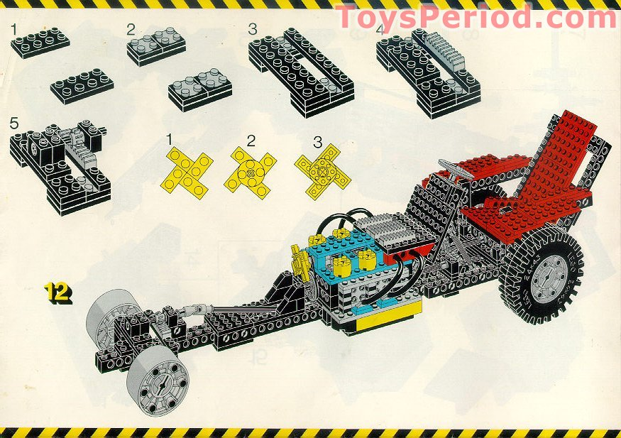 LEGO 8860 Auto Chassis Set Parts Inventory and Instructions - LEGO