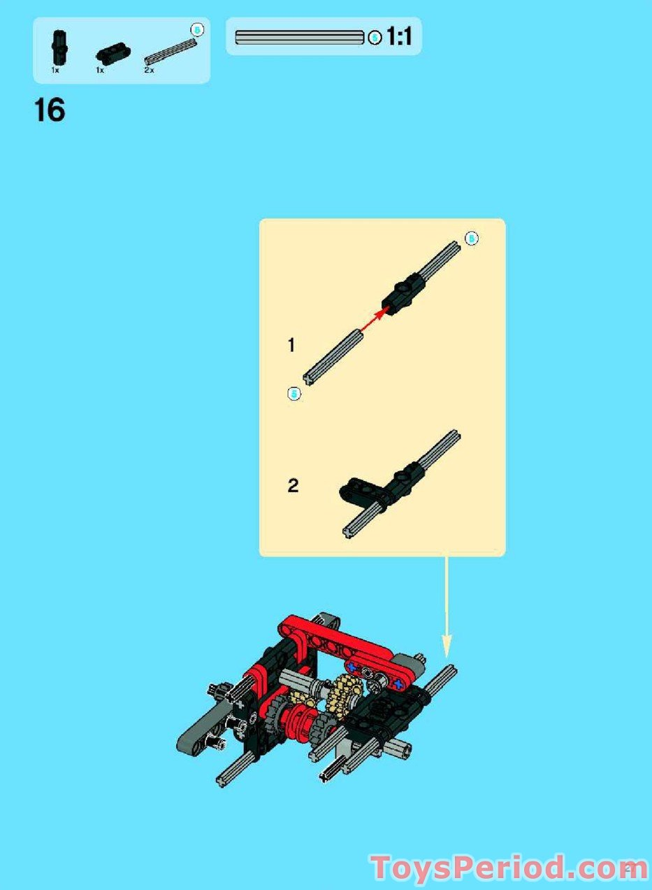 LEGO 8294 Excavator Set Parts Inventory and Instructions ...