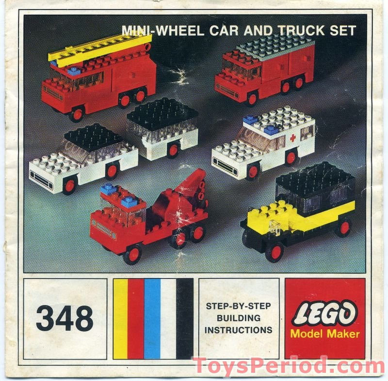 Lego 348 2 Mini Wheel Car And Truck Set Set Parts Inventory And