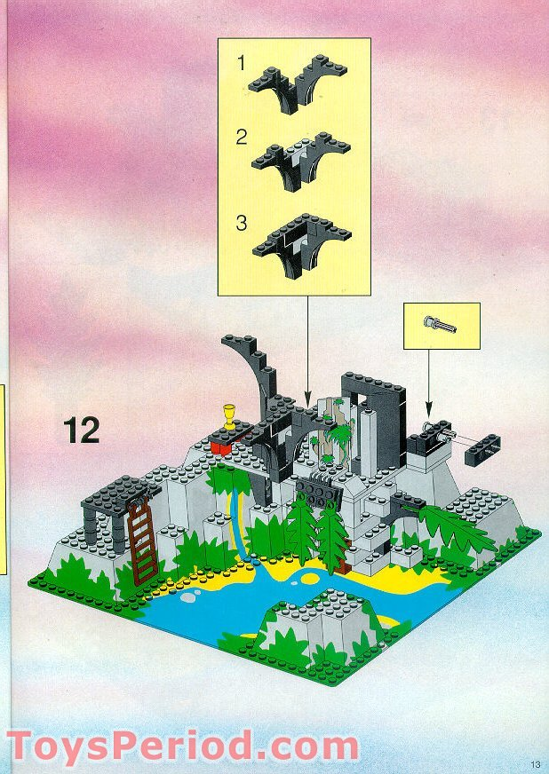 lego 6278 enchanted island set parts inventory and