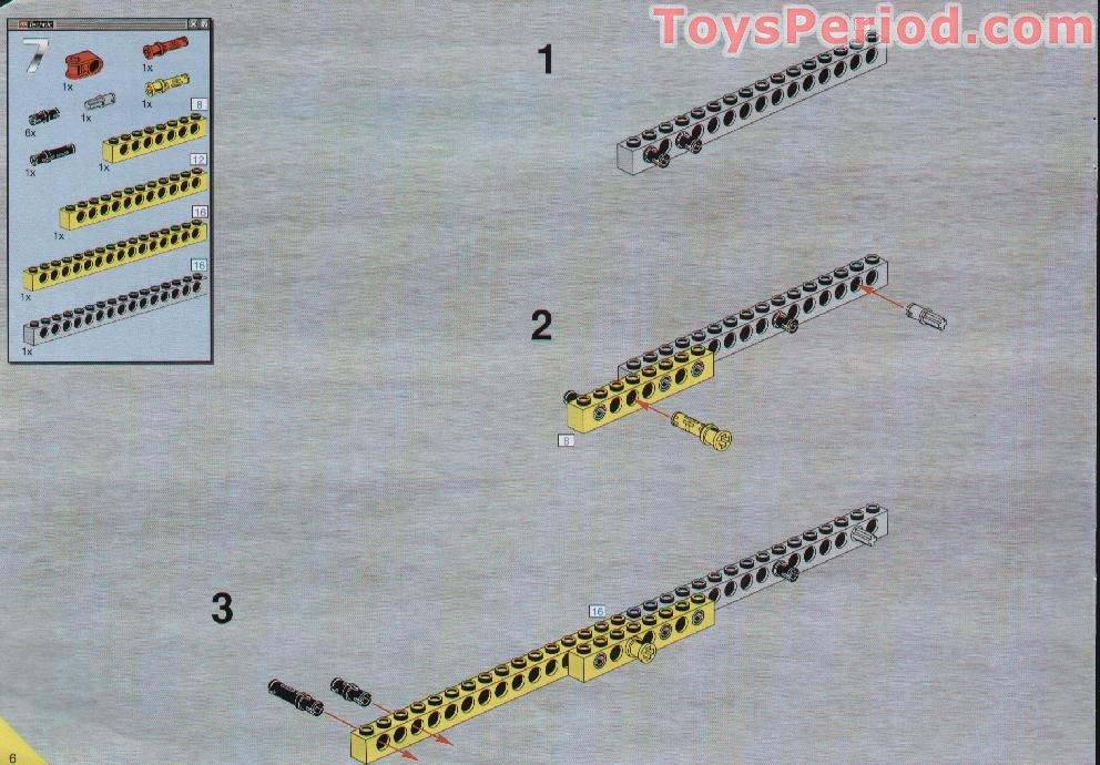 Technic Beam 3 x 0.5 Liftarm in Old Grey 6x Technic Lego part no 6632
