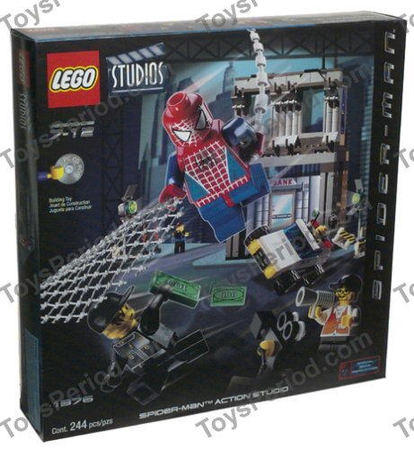 Lego 1376 spider man action studio set parts inventory and - Lego spiderman 3 ...