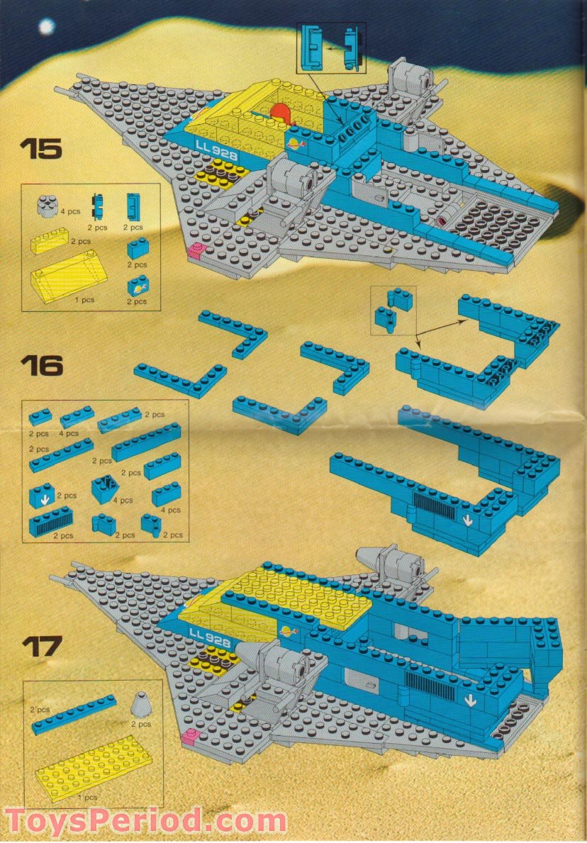 Lego 497 Galaxy Explorer Set Parts Inventory And
