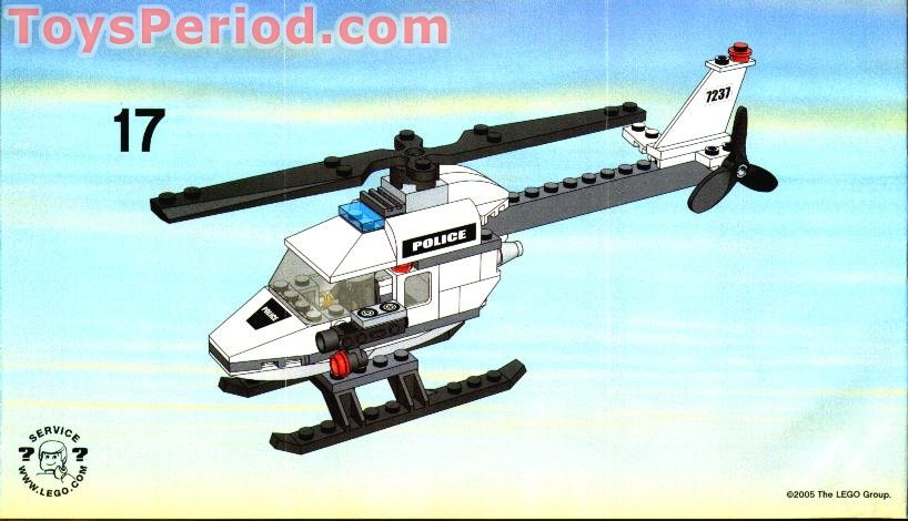 Lego Police Helicopter Plans Helicopter