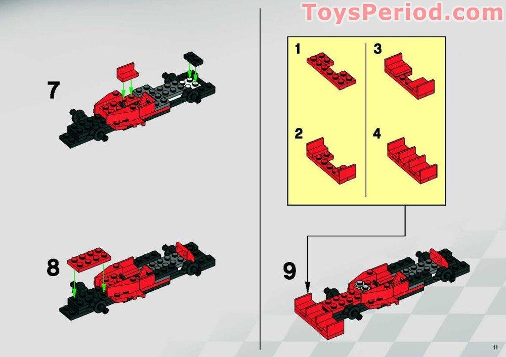 Lego 8144 2 Ferrari 248 F1 Team Raikkonen Set Parts