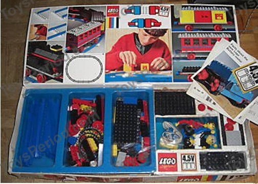 Lego 127 Train Set With 3 Wagons Set Parts Inventory And
