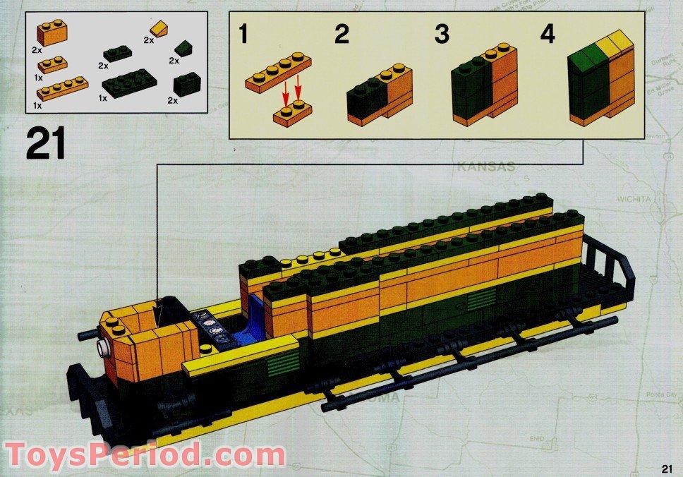 lego santa fe train instructions