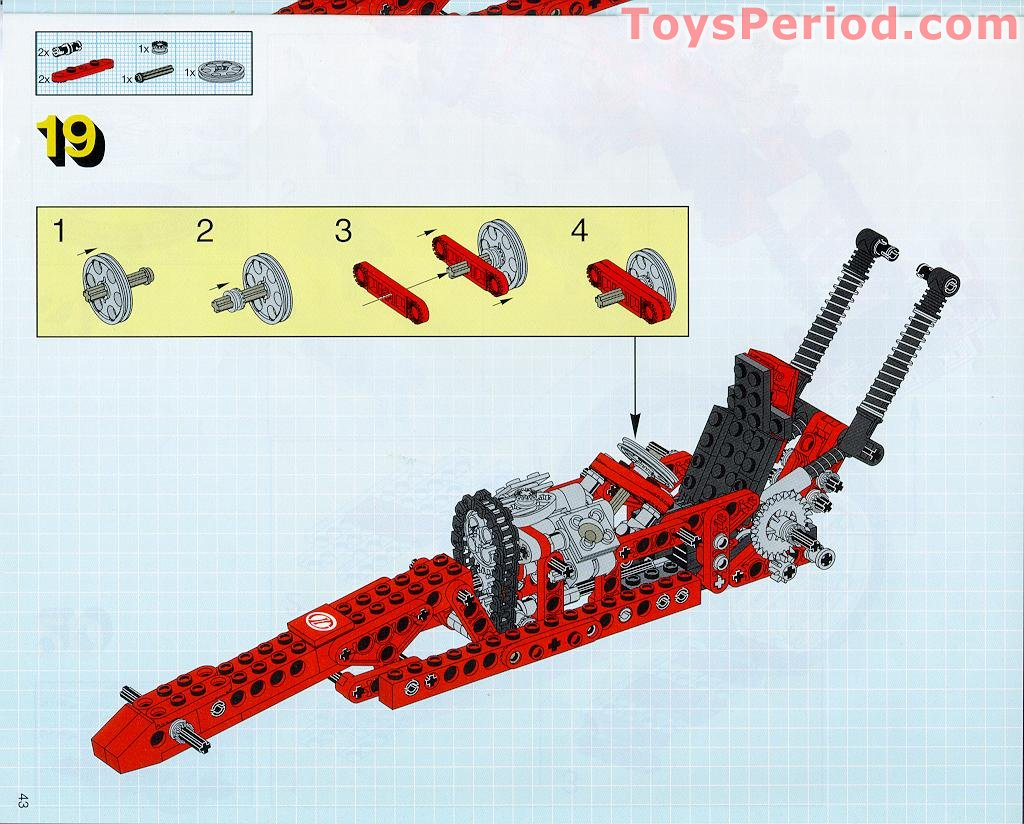 Lego 8422 Circuit Shock Racer Set Parts Inventory And Instructions