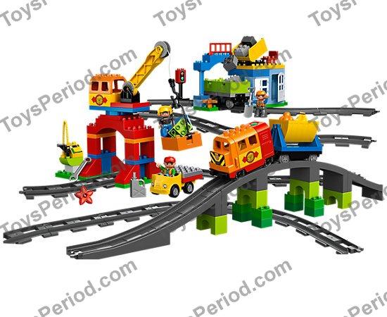 Lego Duplo Stone Gray Train Tracks Lot