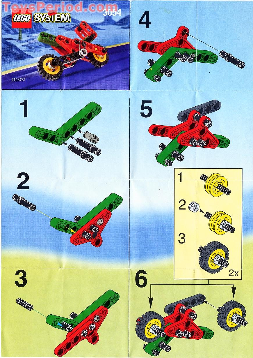 Lego 3054 Kelloggs Promotional Set Technic Motorcycle Set