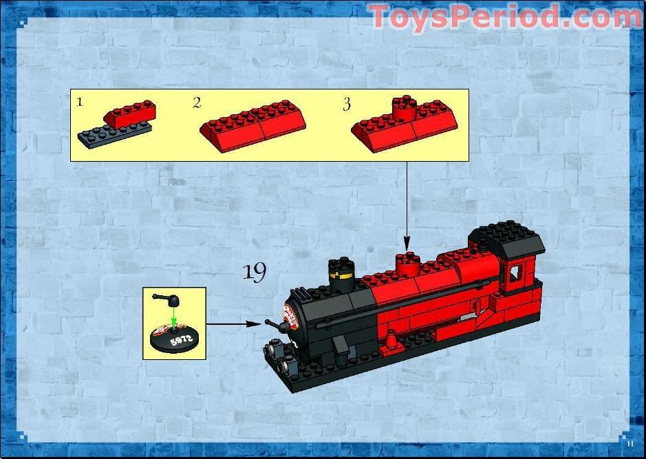 Lego 10132 Motorized Hogwarts Express Set Parts Inventory And