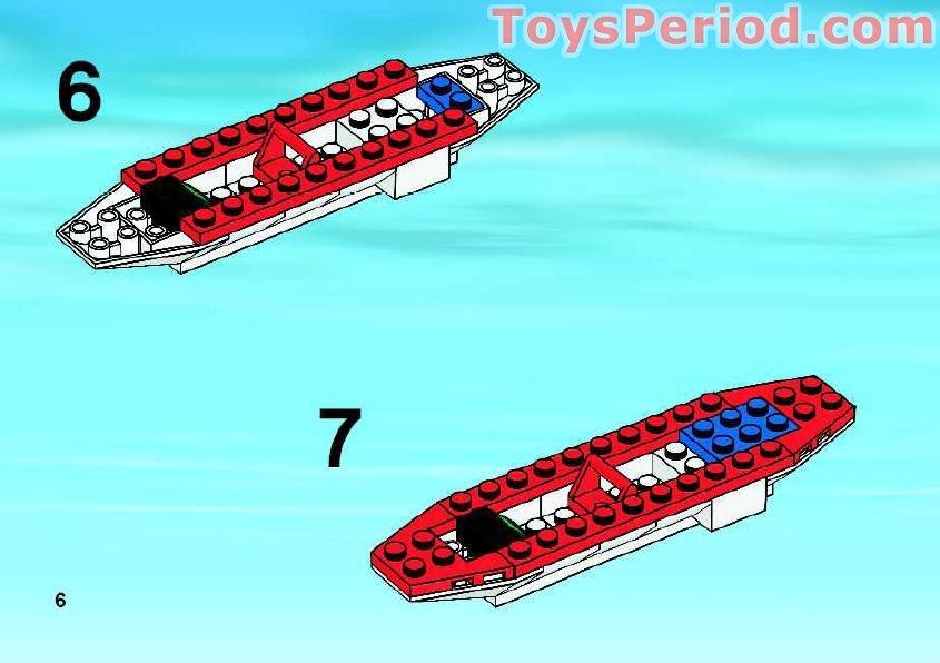 lego ambulance plane instructions