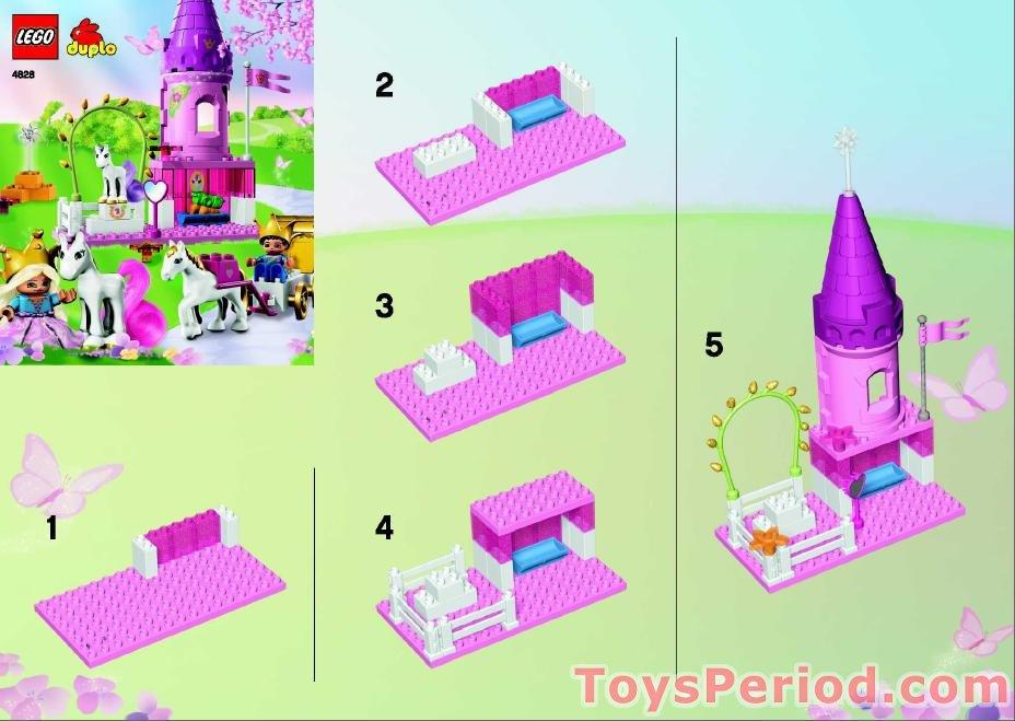 cinderella castle duplo instructions