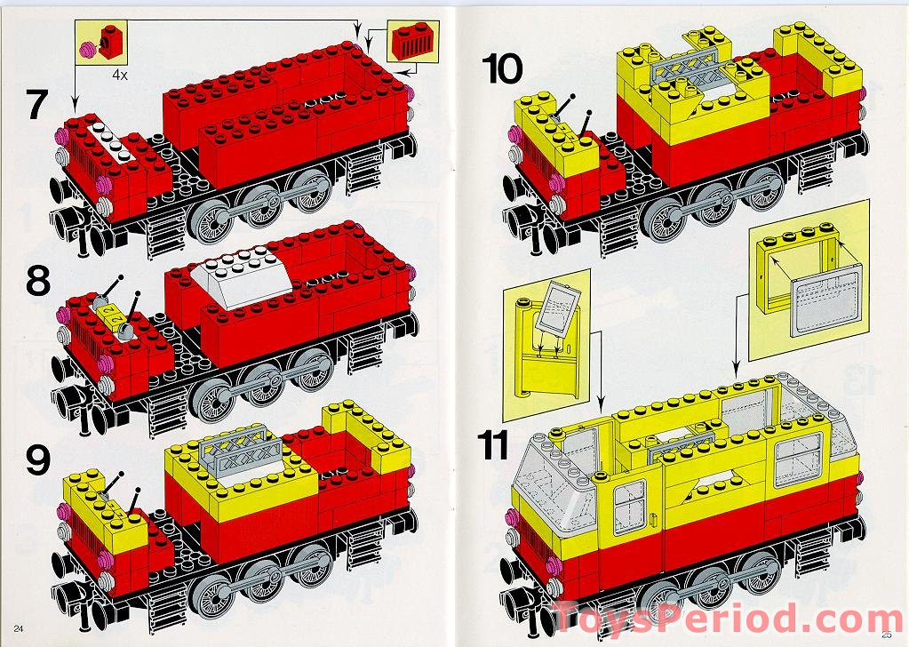 Lego 4181p02 @@ Door 1 x 4 x 5 Train Left Red Bottom half Pattern 7722 7735 7740