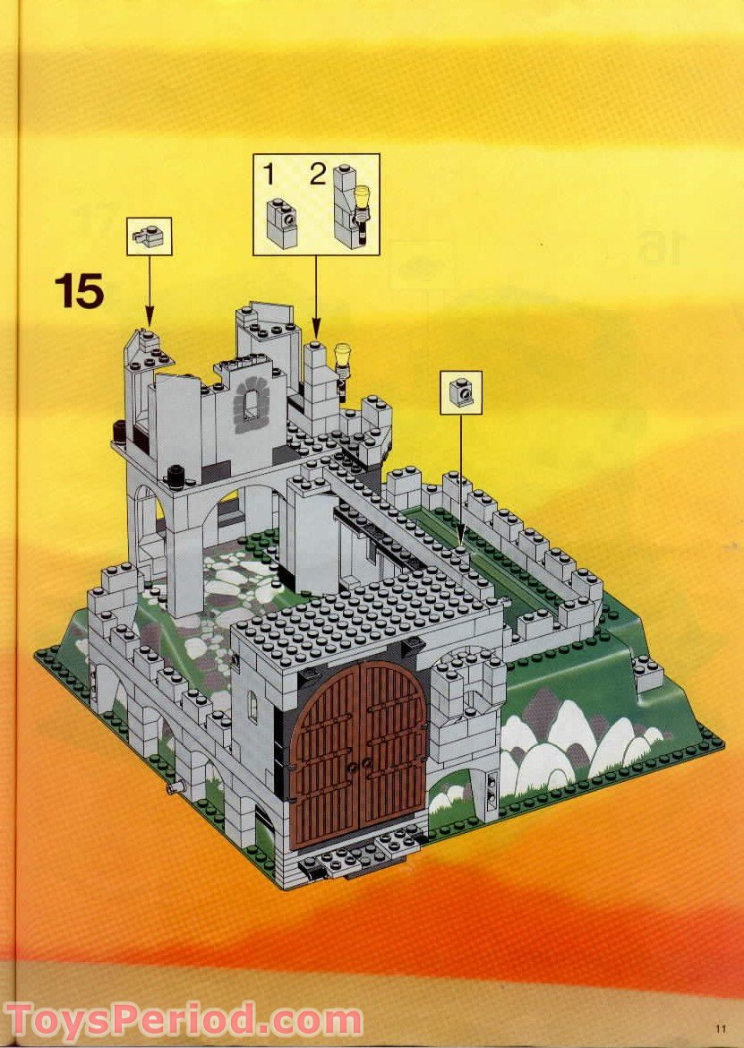 Lego 6081 Kings Mountain Fortress Set Parts Inventory And