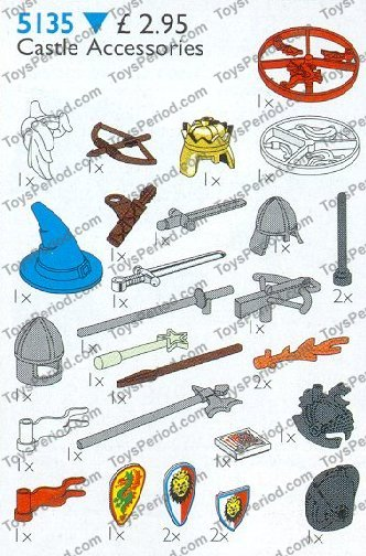 LEGO 5135 Castle Accessories