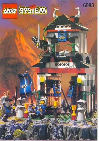 Lego 6083 2 Samurai Stronghold Set Parts Inventory And