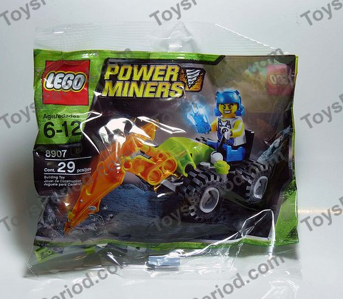 2009 Retired LEGO 8907 Power Miners Polybag Bag is Sealed//Unopened