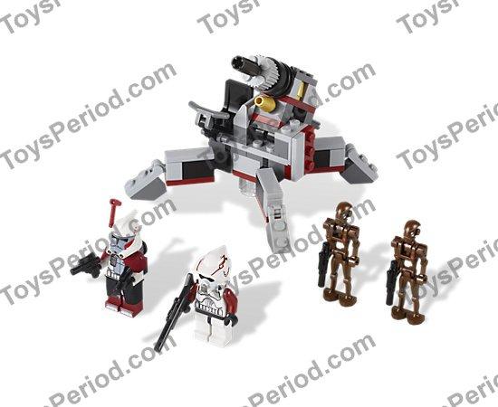 Lego 9488 Elite Clone Trooper Commando Droid Battle Pack Set Parts