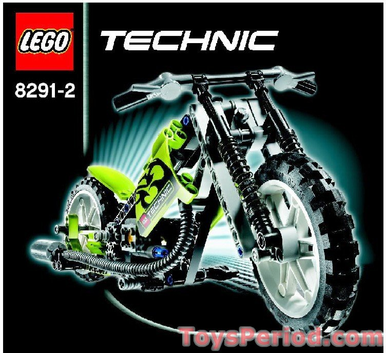 Lego 8291 Dirt Bike Set Parts Inventory And Instructions Lego