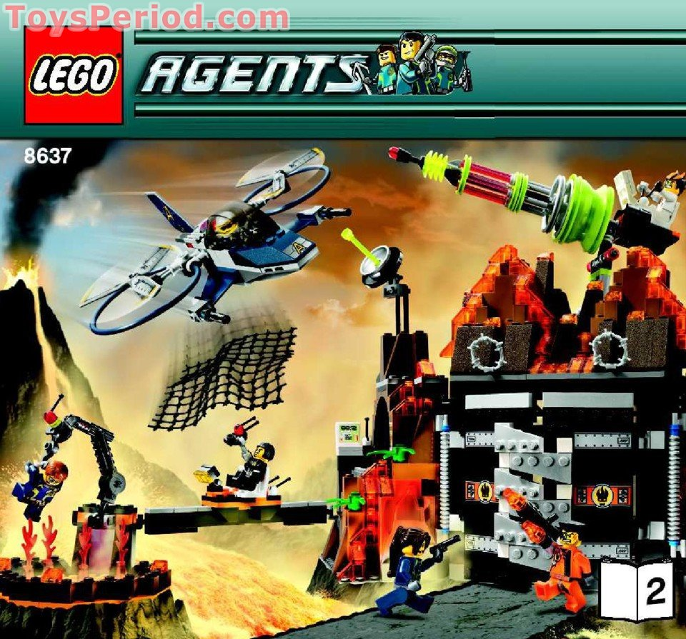 lego 8637 mission 8 volcano base set parts inventory and  lego 8637 mission 8 volcano base set parts inventory and