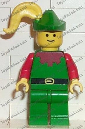 Lego Classic Castle Blue torso Forestmen hood minifigure Deer Shield sword plume