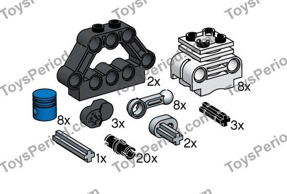 lego technic engine instructions