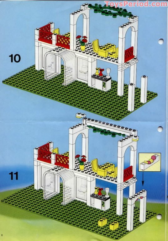 Lego 10037 Breezeway Cafe Set Parts Inventory And