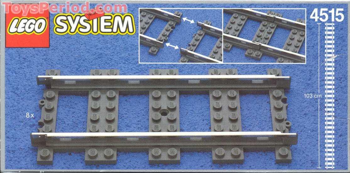 8 tan grey pieces Used//Excellent Lego 4515-9 Volt Straight Metal Track