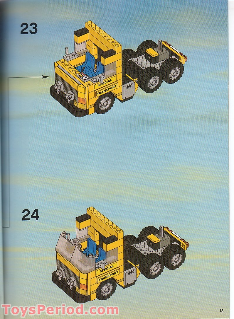 Lego 7900 Heavy Loader Set Parts Inventory And