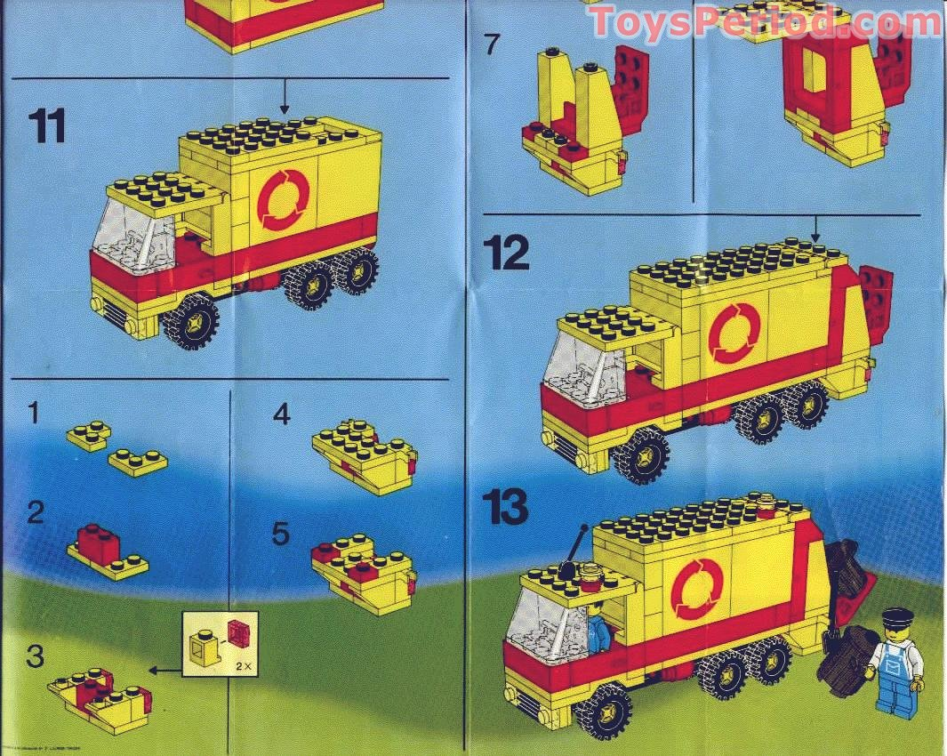 lego 6693 refuse collection truck set parts inventory and instructions lego reference guide. Black Bedroom Furniture Sets. Home Design Ideas