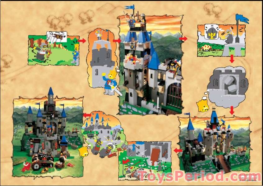 lego 6091 king leo 39 s castle set parts inventory and instructions lego reference guide. Black Bedroom Furniture Sets. Home Design Ideas