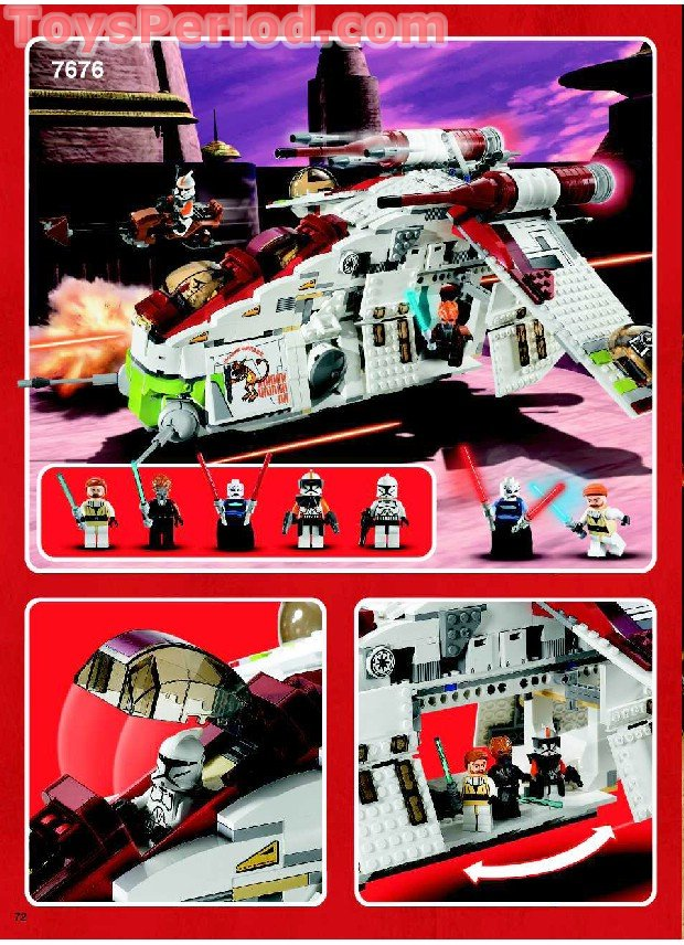 lego republic fighter tank instructions