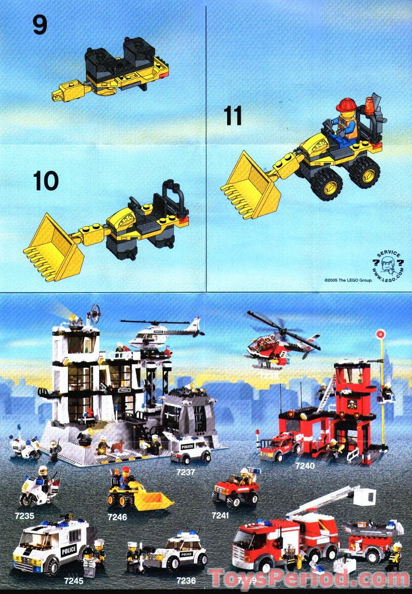 lego 7246 mini digger set parts inventory and instructions