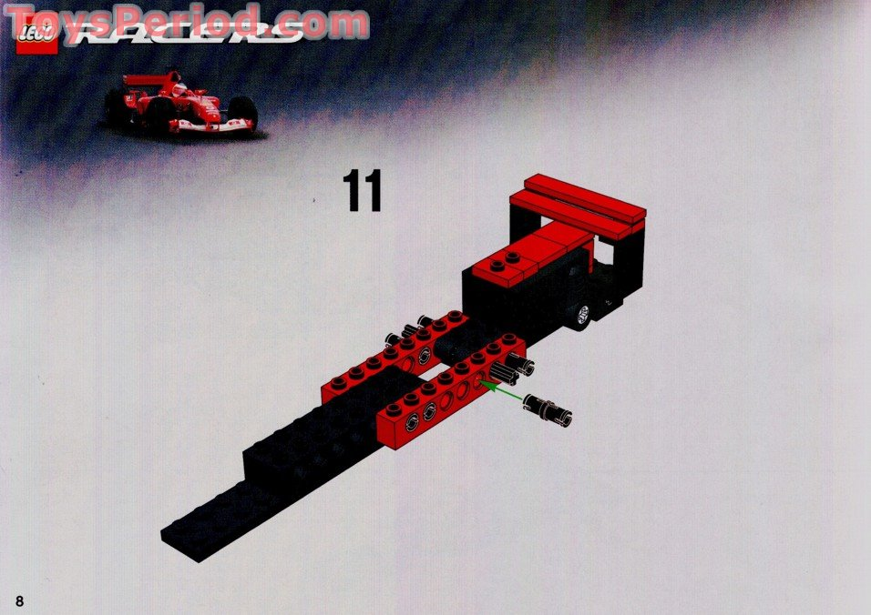 Lego 8362 Ferrari F1 Racer 1 24 Scale Set Parts Inventory