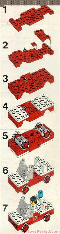 Lego 623 1 Medics Car Set Parts Inventory And Instructions Lego