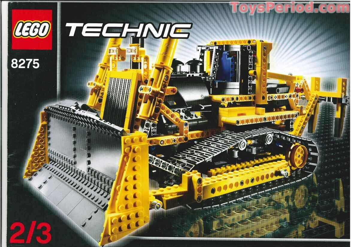 lego 8275 motorized bulldozer set parts inventory and